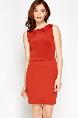Bodycon Basic Dress M / Viskose / Rot
